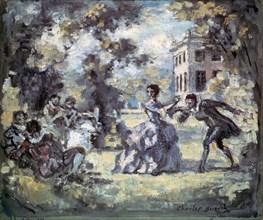 'Amorous Scene', c1908. Artist: Charles Guerin