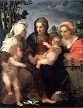 'Virgin and Child with Saints Catherine, Elisabeth and John the Baptist', 1510s.  Artist: Andrea del Sarto