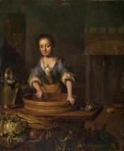 'A Cook', Dutch painting of 18th century. Artist: Louis de Moni