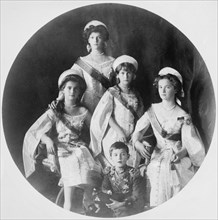 Children of Tsar Nicholas II of Russia, c1910-c1914. Artist: Anon