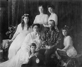 The Family of Tsar Nicholas II of Russia, 1910s.  Artist: Anon