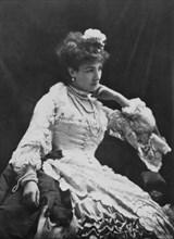 Sarah Bernhardt, French actress, c1865. Artist: Nadar