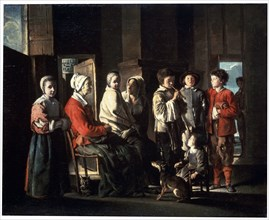 'The Visit to the Grandmother', 1645.  Artist: Louis Le Nain