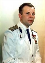 Yuri Gagarin, Russian cosmonaut, 1960s. Artist: Unknown