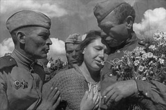 Victory day, World War II, USSR, 1945. Artist: Anon