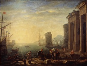 'Morning in the Harbour', 1630s. Artist: Claude Lorrain