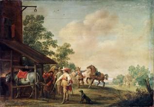 'A Forge', 1648. Artist: Pieter Meulener