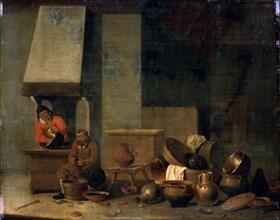 'The Kitchen', 17th century.  Artist: Anon