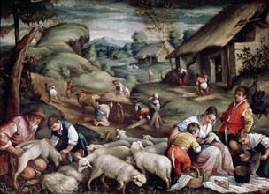 'Summer. Sheep Shearing', c1570-c1580. Artist: Francesco Bassano II