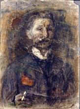 'Self-portrait', 1904.  Artist: Mikhail Vrubel
