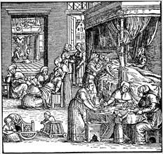 Puerperium in Frankfurt in the 16th century.