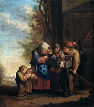'The Spectacles Seller', Eyesight (from the series 'The Five Senses'), 17th century. Artist: Andries Dirksz Both
