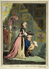 'A Peep at Christies', 1796. Artist: James Gillray