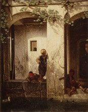 Turkish Children at a Fountain, 1846. Artist: Decamps, Alexandre Gabriel (1803-1860)