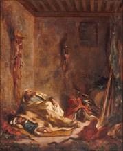 A guardhouse in Meknès, 1847. Artist: Delacroix, Eugène (1798-1863)