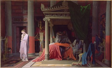 Antiochus and Stratonike, 1840. Artist: Ingres, Jean Auguste Dominique (1780-1867)