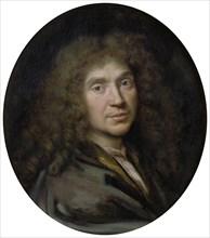 Portrait of the author Moliére (1622-1673), ca 1658. Artist: Mignard, Pierre (1612-1695)