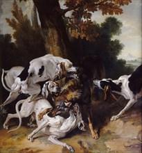 The Wolf Hunt, 1725. Artist: Oudry, Jean-Baptiste (1686-1755)