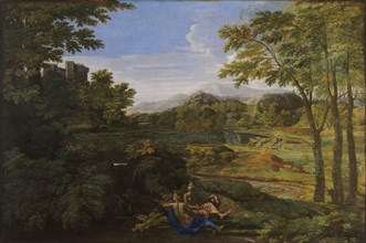 Landscape with two Nymphs and a Snake, ca 1659. Artist: Poussin, Nicolas (1594-1665)