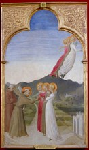 The Mystical Marriage Of St. Francis Of Assisi, 1444. Artist: Sassetta (1392-1450)