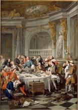 The Oyster Meal, 1735. Artist: Troy, Jean-François de (1679-1752)