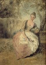 L?Amante inquiète, 1716-1720. Artist: Watteau, Jean Antoine (1684-1721)