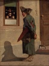 Soldier At The Denture Shop. Artist: Schalck, Adam Ernst (1827-1865)