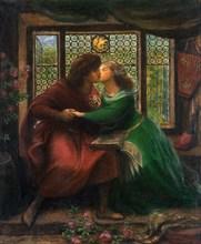 Paolo and Francesca da Rimini, 1867. Artist: Rossetti, Dante Gabriel (1828-1882)