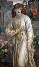 Salutation of Beatrice, 1880-1882. Artist: Rossetti, Dante Gabriel (1828-1882)