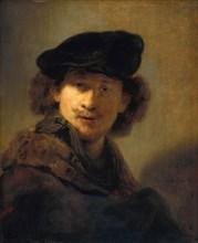 Self-Portrait with Velvet Beret, 1634. Artist: Rembrandt van Rhijn (1606-1669)
