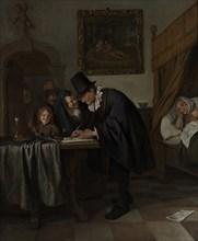 The Doctor's Visit, ca 1665. Artist: Steen, Jan Havicksz (1626-1679)