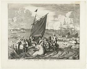 Tthe voyage to Novaya Zemlya in 1596, 1679-1681. Artist: Luyken, Jan (Johannes) (1649-1712)