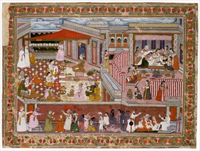 Birth in a Palace, 1760-1770. Artist: Indian Art