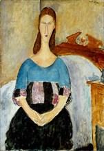 Portrait of Jeanne Hébuterne, 1918. Artist: Modigliani, Amedeo (1884-1920)