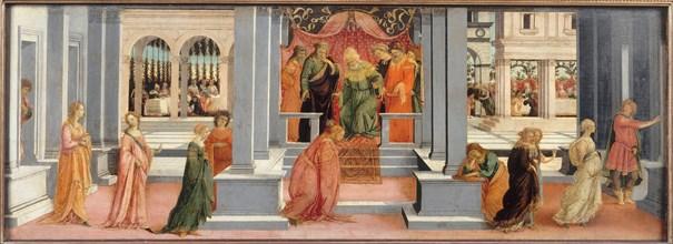 Esther before Ahasuerus, 1478-1480. Artist: Lippi, Filippino (1457-1504)