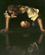 Narcissus, 1598-1599. Artist: Caravaggio, Michelangelo (1571-1610)