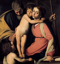 The Holy Family with John the Baptist as a Boy, Early 17th cen.. Artist: Caravaggio, Michelangelo (1571-1610)