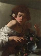 Boy bitten by a Lizard, ca 1595. Artist: Caravaggio, Michelangelo (1571-1610)