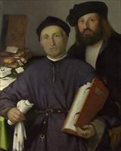 The Physician Giovanni Agostino della Torre and his Son, Niccolò, ca 1515. Artist: Lotto, Lorenzo (1480-1556)