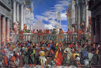 The Wedding Feast at Cana, 1563. Artist: Veronese, Paolo (1528-1588)