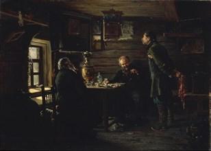 The Nightingale Lovers, 1872-1873. Artist: Makovsky, Vladimir Yegorovich (1846-1920)