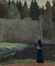 The Nightingale is Singing, 1918. Artist: Nesterov, Mikhail Vasilyevich (1862-1942)