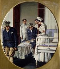 In a Military Hospital, 1901. Artist: Vereshchagin, Vasili Vasilyevich (1842-1904)