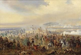 The Battle of Leipzig in October 1813, 1886. Artist: Willewalde, Gottfried (Bogdan Pavlovich) (1818-1903)
