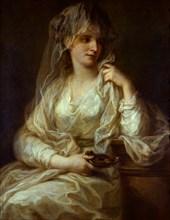 Portrait of a Lady as a Vestal Virgin, 1782. Artist: Kauffmann, Angelika (1741-1807)
