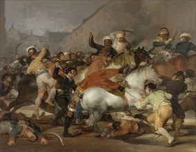 The Second of May 1808 (The Charge of the Mamelukes), 1814. Artist: Goya, Francisco, de (1746-1828)