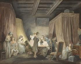 Le Coucher des Ouvrières en Modes, 1788. Artist: Lafrensen, Niclas (1737-1807)