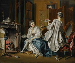 Morning toilet (After François Boucher). Artist: Hilleström, Pehr (1732-1816)