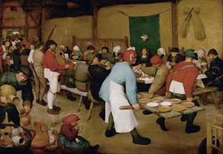The Peasant Wedding, ca 1568. Artist: Bruegel (Brueghel), Pieter, the Elder (ca 1525-1569)