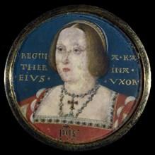 Portrait of Queen Catherine of Aragon (1485-1536), c. 1525. Artist: Horenbout (Hornebolte), Lucas (1490/95-1544)